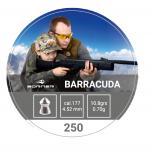 Õhkrelva kuulid BORNER Barracuda cal 4,5mm 0,70g 250 tk