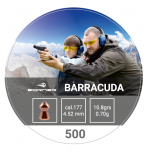Õhkrelva kuulid BORNER Barracuda cal 4,5mm 0,70g 500 tk