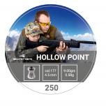 Õhkrelva kuulid BORNER Hollow Point cal 4,5mm 0,58g 250 tk