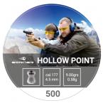 Õhkrelva kuulid BORNER Hollow point cal 4,5mm 0,58g 500 tk