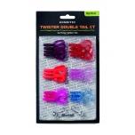 Võdik KINETIC Twister Double Tail Mix CT 5g/5cm Burning Rubber komplekt