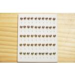 Kirptirk MERMAID tina mudel 4/2 silmaga, konks Mustad (50tk/pk) komplekt