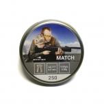 Õhkrelva kuulid BORNER Match cal 4,5mm 0,58g 250 tk