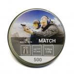 Õhkrelva kuulid BORNER Match cal 4,5mm 0,58g 500 tk