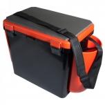 Kalastuskast HELIOS Fishbox 19l madal 432x255x320mm oranz/must max.130kg