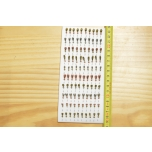Kirptirk MERMAID tina mudel 7/3 sipelgas, konks Mustad (100tk/pk) komplekt