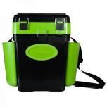 Kalastuskast HELIOS Fishbox 10l kõrge 432x230x404.5 mm roheline/must max.120kg