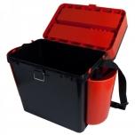 Kalastuskast HELIOS Fishbox 19l kõrge 500x320x395mm oranz/must max.130kg